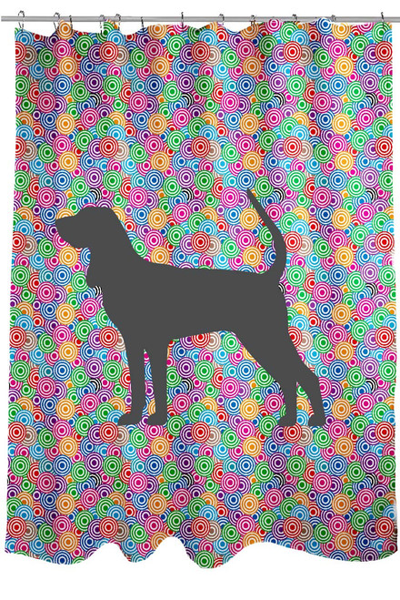 Righteous Hound - Circle Coonhound Shower Curtain