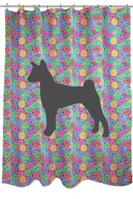 Righteous Hound - Circle Basenji Shower Curtain