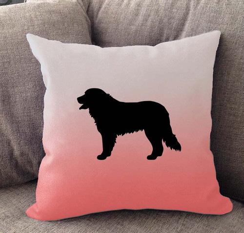 Bernese Mountain Dog Ombre Pillow