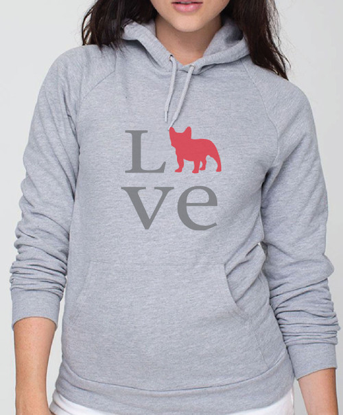 Righteous Hound - Unisex Love French Bulldog Hoodie