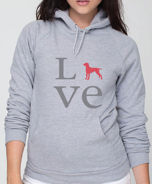 Righteous Hound - Unisex Love Weimaraner Hoodie