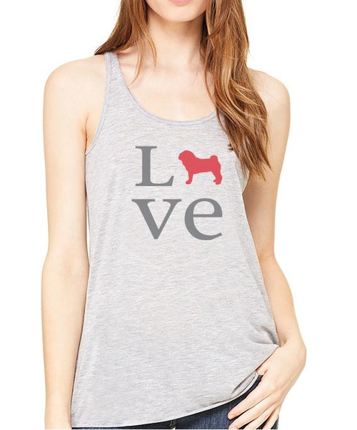 Righteous Hound - Flowy Love Pug Tank