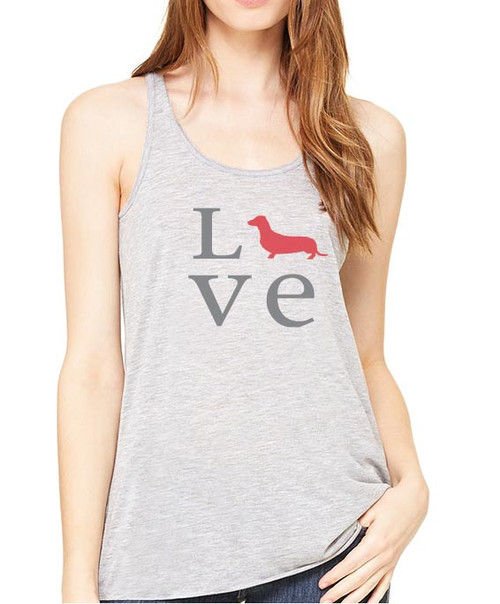 Righteous Hound - Flowy Love Dachshund Tank