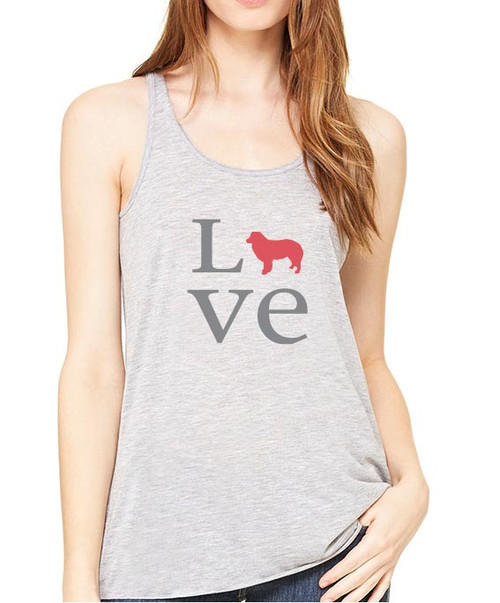 Righteous Hound - Flowy Love Border Collie Tank