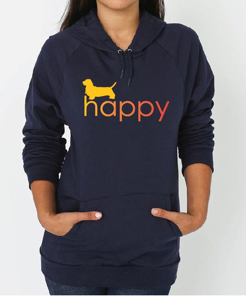 Righteous Hound - Unisex Happy Basset Hound Hoodie