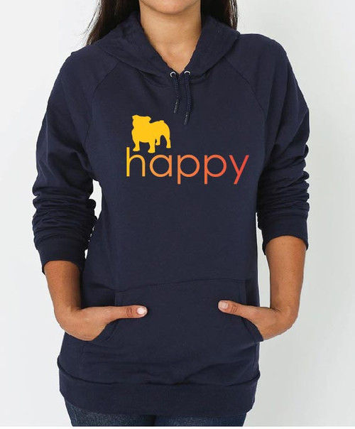 Righteous Hound - Unisex Happy Bulldog Hoodie