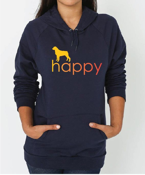 Righteous Hound - Unisex Happy Rottweiler Hoodie