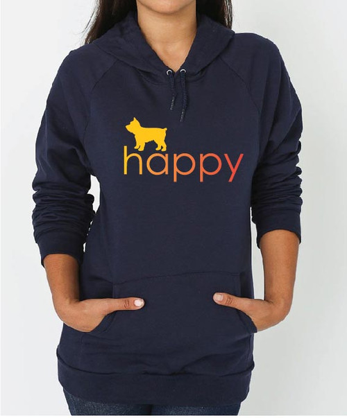 Righteous Hound - Unisex Happy Yorkie Hoodie