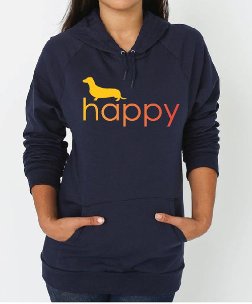 Righteous Hound - Unisex Happy Dachshund Hoodie