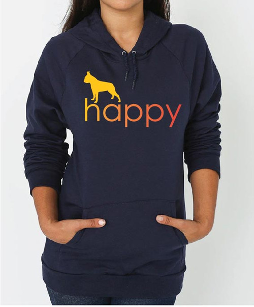 Righteous Hound - Unisex Happy Boston Terrier Hoodie