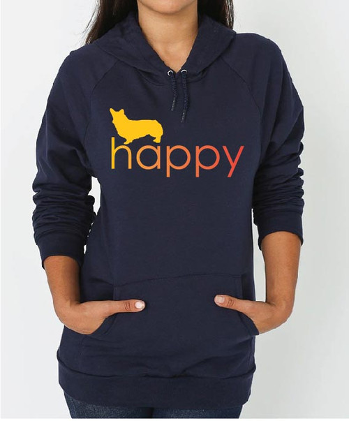 Righteous Hound - Unisex Happy Corgi Hoodie