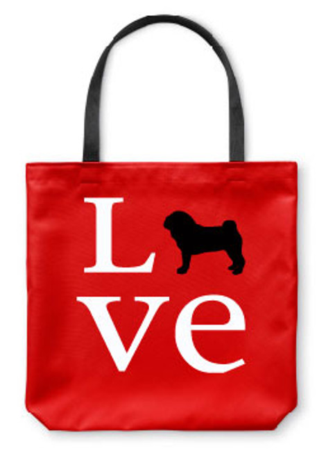 Righteous Hound - Love Pug Tote Bag