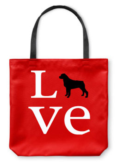 Righteous Hound - Love Rottweiler Tote Bag