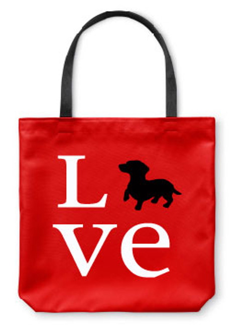 Righteous Hound - Love Dachshund Tote Bag