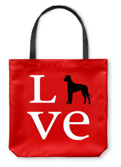 Righteous Hound - Love Great Dane Tote Bag