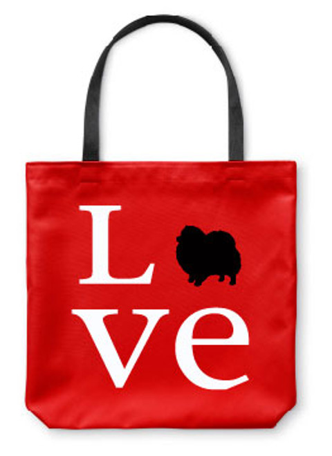Righteous Hound - Love Pomeranian Tote Bag