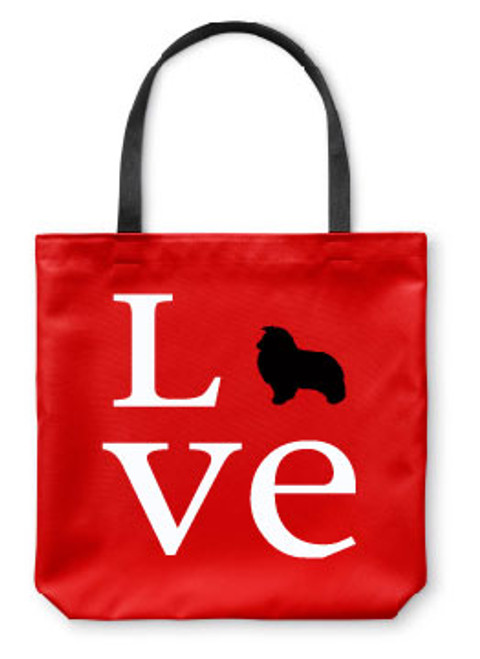 Righteous Hound - Love Shetland Sheepdog Tote Bag