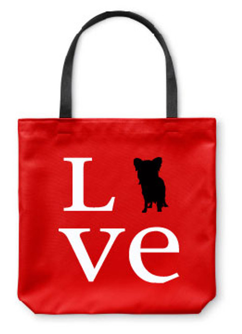 Righteous Hound - Love Papillon Tote Bag