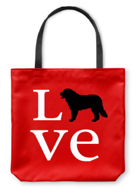 Righteous Hound - Love Bernese Mountain Dog Tote Bag