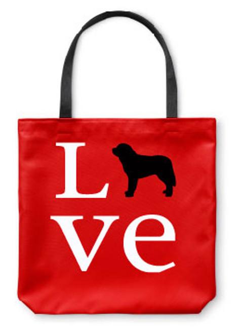 Saint Bernard Love Tote Bag