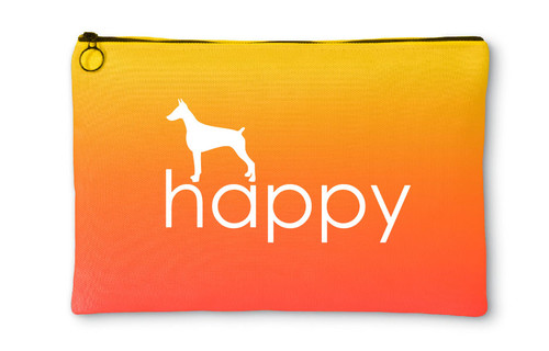 Righteous Hound - Happy Doberman Accessory Pouch