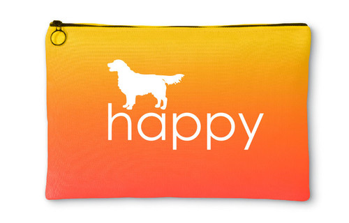Righteous Hound - Happy Golden Retriever Accessory Pouch