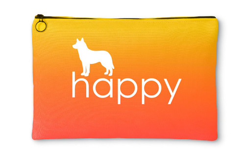 Righteous Hound - Happy Husky Accessory Pouch