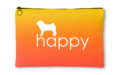 Righteous Hound - Happy Pug Accessory Pouch