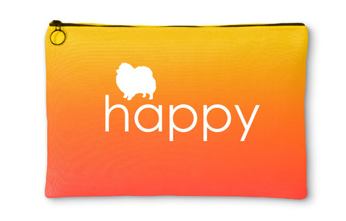 Righteous Hound - Happy Pomeranian Accessory Pouch
