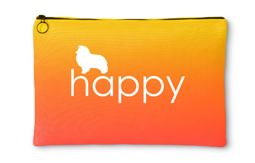 Righteous Hound - Happy Shetland Sheepdog Accessory Pouch