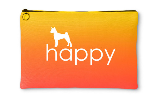 Righteous Hound - Happy Basenji Accessory Pouch