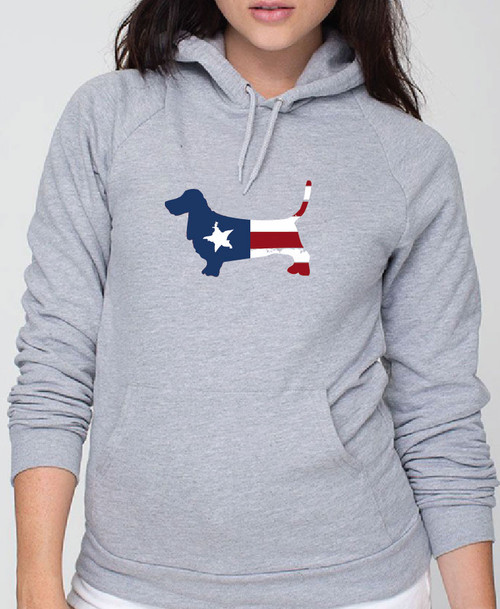 Righteous Hound - Unisex Patriot Basset Hound Hoodie