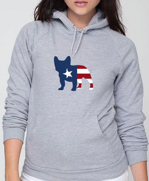 Righteous Hound - Unisex Patriot French Bulldog Hoodie