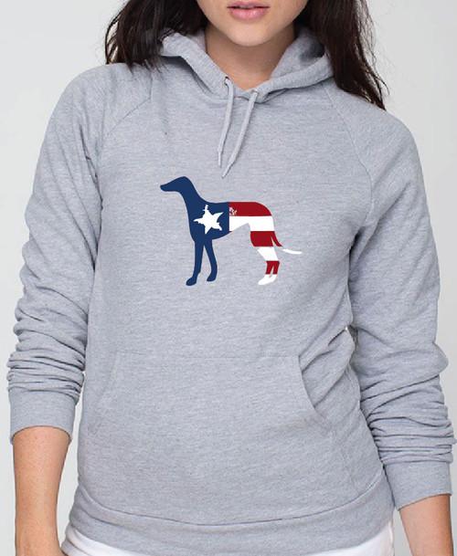 Righteous Hound - Unisex Patriot Greyhound Hoodie