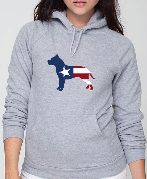 Righteous Hound - Unisex Patriot Pitbull Hoodie