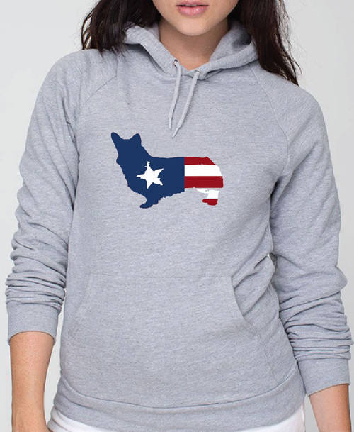 Righteous Hound - Unisex Patriot Corgi Hoodie