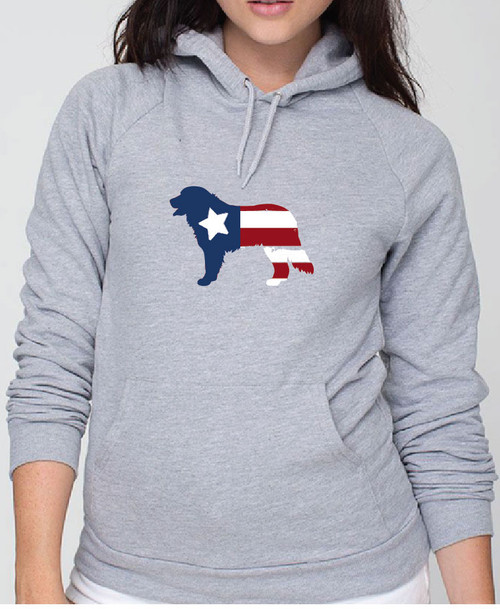 Righteous Hound - Unisex Patriot Bernese Mountain Dog Hoodie