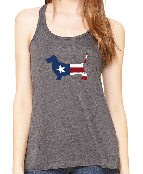 Righteous Hound - Flowy Patriot Basset Hound Tank