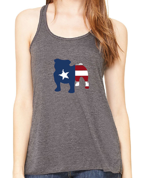 Righteous Hound - Flowy Patriot Bulldog Tank