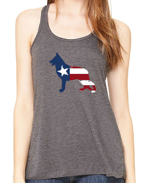 Righteous Hound - Flowy Patriot German Shepherd Tank