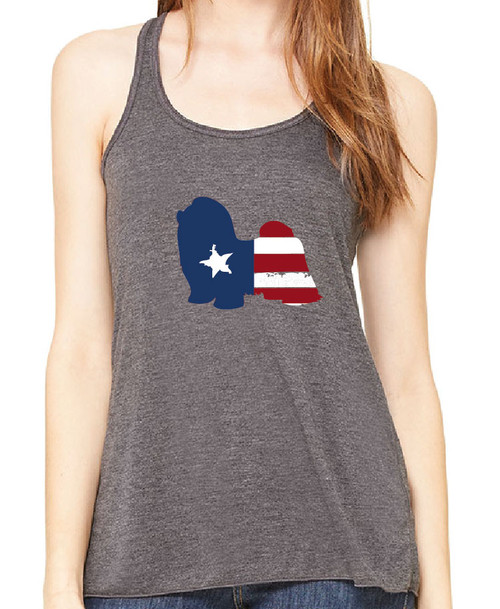 Righteous Hound - Flowy Patriot Shih Tzu Tank