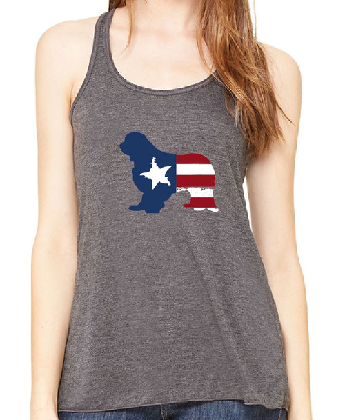 Righteous Hound - Flowy Patriot Cavalier King Charles Spaniel Tank