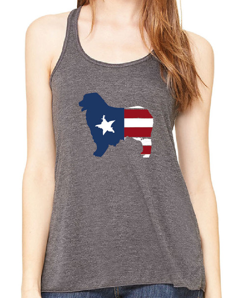 Righteous Hound - Flowy Patriot Australian Shepherd Tank