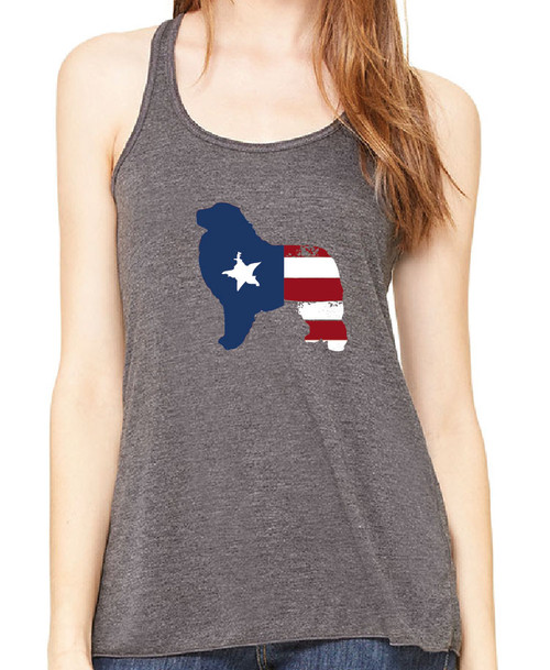 Righteous Hound - Flowy Patriot Great Pyrenees Tank