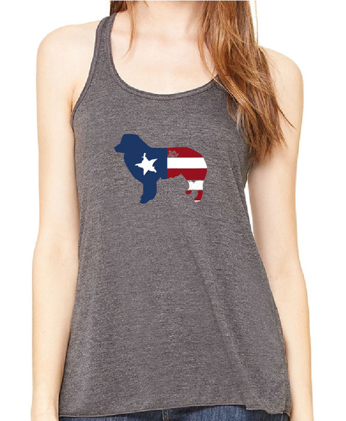 Righteous Hound - Flowy Patriot Border Collie Tank