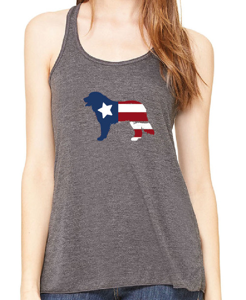 Righteous Hound - Flowy Patriot Bernese Mountain Dog Tank