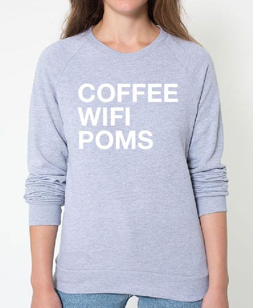 Pomeranian Coffee Wifi Sweatshirt