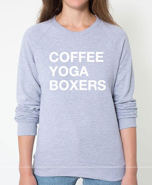 Boxer Coffee Yoga Sweatshirt
