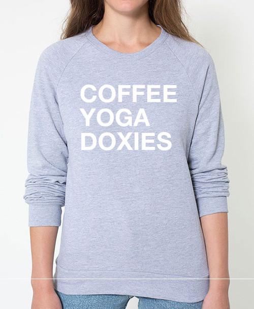 Dachshund Coffee Yoga Sweatshirt