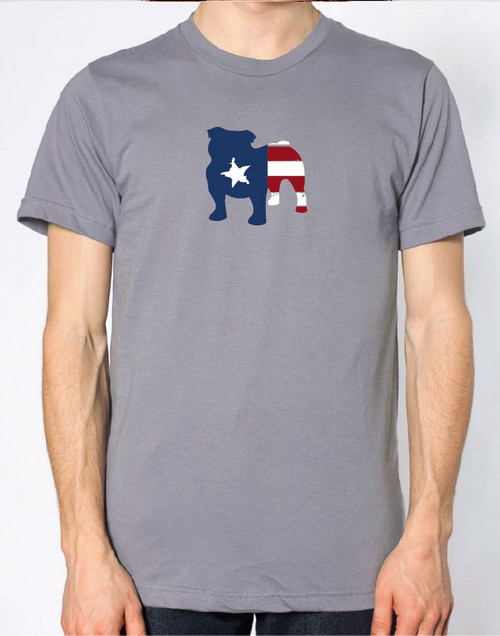 Righteous Hound - Men's Patriot Bulldog T-Shirt